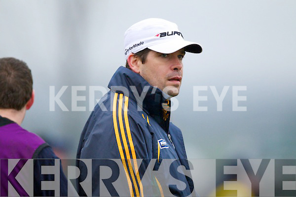Kerry Manager Eamon Fitzmaurice at the  Finuge iv Saint Vincents in the Intermediate Club Mumster Final at Mallow on Sunday.