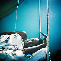 A pregnant woman who has malaria in a clinic near Bujumbura.