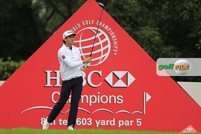 Rafa Cabrera Bello (ESP) on the 8th during round 3 of the WGC-HSBC Champions, Sheshan International GC, Shanghai, China PR.  29/10/2016<br /> Picture: Golffile | Fran Caffrey<br /> <br /> <br /> All photo usage must carry mandatory copyright credit (&copy; Golffile | Fran Caffrey)