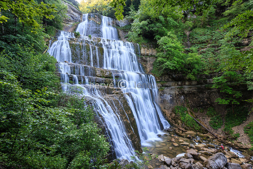 France, Jura (39), Menétrux-en-Joux, cascades du Hérisson, l'Eventaille // France, Jura, Menetrux en Joux, Herisson waterfalls, Eventaille fall