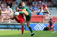 Ben Turner of Notts County and Gozie Ugwu of Ebbsfleet United during Ebbsfleet United vs Notts County, Vanarama National League Football at The Kuflink Stadium on 24th August 2019