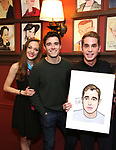 Laura Osnes, Corey Cott and Ben Platt attend the Ben Platt Sardi's Portrait unveiling at Sardi's on May 30, 2017 in New York City.