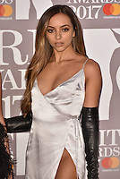 Little Mix, Jade Thirlwall<br /> The Brit Awards at the o2 Arena, Greenwich, London, England on February 22, 2017.<br /> CAP/PL<br /> &copy;Phil Loftus/Capital Pictures /MediaPunch ***NORTH AND SOUTH AMERICAS ONLY***