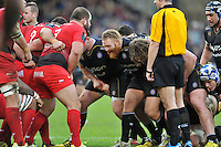 Ross Batty of Bath Rugby calls out at a scrum. European Rugby Champions Cup match, between Bath Rugby and RC Toulon on January 23, 2016 at the Recreation Ground in Bath, England. Photo by: Patrick Khachfe / Onside Images
