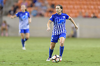 Houston, TX - Saturday July 22, 2017: Allysha Chapman during a regular season National Women's Soccer League (NWSL) match between the Houston Dash and the Boston Breakers at BBVA Compass Stadium.