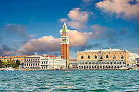 The Doges Palace  and Campinale of St Mark from the Saint Mark's Basin Venice