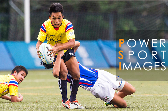 The match between Chinese Taipei and Thailand of the Asia Rugby U20 Sevens Series 2016 on 12 August 2016 at the King's Park, in Hong Kong, China. Photo by Marcio Machado / Power Sport Images