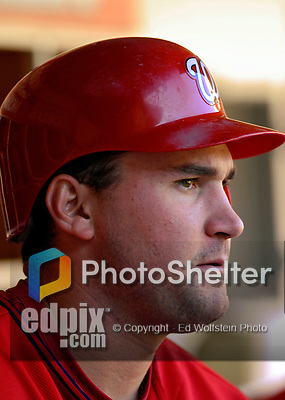 16 September 2007: Washington Nationals third baseman Ryan Zimmerman in action against the Atlanta Braves at Robert F. Kennedy Memorial Stadium in Washington, DC. The Braves shut out the Nationals 3-0 in the third game of their 3-game series...Mandatory Photo Credit: Ed Wolfstein Photo