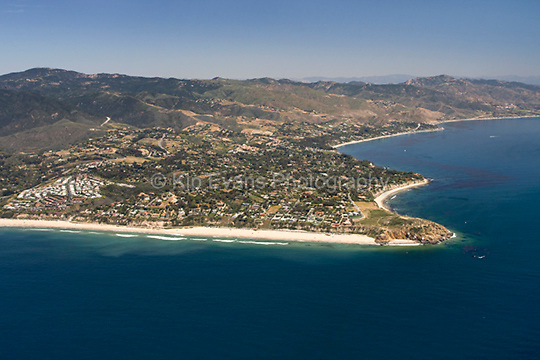 Aerial view of Point Dume in Malibu, California, looking northeast.