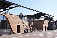 Nederland - Leeuwarden - april 2018. Leeuwarden Culturele Hoofdstad van Europa 2018. Obe Taalexspo. Obe, vernoemd naar dichter Obe Postma, maakt deel uit van Lân fan Taal, een van de projecten van LF2018.  Foto Berlinda van Dam / Hollandse Hoogte
