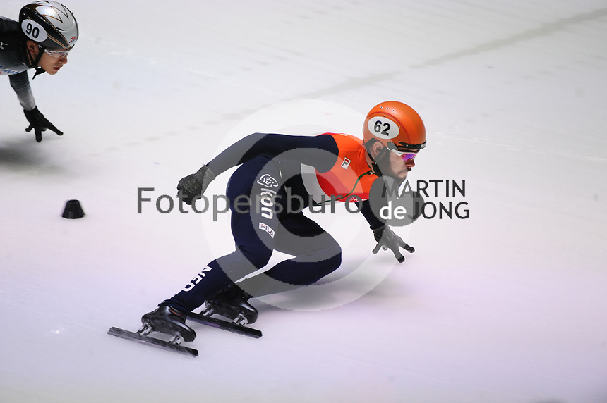 SHORT TRACK: ROTTERDAM: Ahoy, 10-03-2017, KPN ISU World Short Track Championships 2017, Sjinkie Knegt (NED), ©photo Martin de Jong