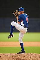 Pitcher Dalton Leighty (4) of Western High School in West Middleton, Indiana playing for the Chicago Cubs scout team during the East Coast Pro Showcase on July 28, 2015 at George M. Steinbrenner Field in Tampa, Florida.  (Mike Janes/Four Seam Images)