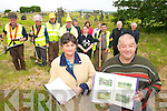TOP TEAM: Members of the Dromid Graveyard Committee who are undertaking renovation and cleaning of the facility. They are also compiling a history of the graveyard..Front L/r. Geraldine Sheehan, Diarmuid O'Se..Back L/r. Michael O'Sullivan, John O'Connell, Donal Moran, Seamus O'Conaill,  Donal O'Suilleabhain, Cait Ui Chonaill, Peggy Cross, Lee O'Connor, Patrick Kelly, Fr. John Kerins and Pats O'Connor.   Copyright Kerry's Eye 2008