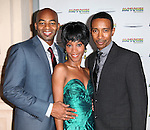 Brandon Victor Dixon, Valisia LeKae and Charles Randolph Wright attending the Broadway World Premiere Launch for 'Motown: The Musical' at the Nederlander in New York. Sept. 27, 2012