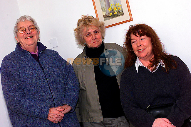 Ina Lennon,Maragret Moore and Stella Neary at the International Women Day in the Arts Centre. ..Pic Tony Campbell/Newsfile