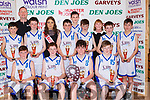 The Rathmore team that won the U14 Boys final at the St Mary's Basketball blitz in Castleisland on Sunday front row l-r: Ciarn Collins, Fionn Murphy, Cian O'Leary, James Twomey,  Back row Jack Buckley, Arthur Moynihan,  Cian Twomey,  Shauna Ahern, Cian Mangan, Sean Finnegan Sean Hurley, David McCArthy, Joan Mangan,  Darragh Nagle,