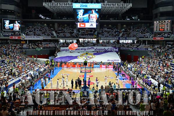 MADRID, ESPAÑA - 11 DE JUNIO DE 2017: El Wizink Center durante el partido entre Real Madrid y Valencia Basket, correspondiente al segundo encuentro de playoff de la final de la Liga Endesa, disputado en el WiZink Center de Madrid. (Foto: Mateo Villalba-Agencia LOF)