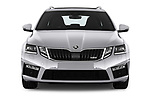 Car photography straight front view of a 2017 Skoda Octavia-Combi RS 5 Door Wagon Front View