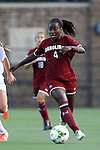 14 August 2014: South Carolina's Raina Johnson. The Duke University Blue Devils hosted the University of South Carolina Gamecocks at Koskinen Stadium in Durham, NC in a 2014 NCAA Division I Women's Soccer preseason match. Duke won the exhibition 2-0.