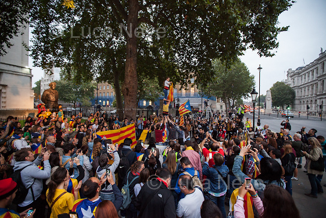 &quot;Castellers&quot; (Traditional Catalan Human Tower).<br />