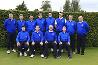 Interprovincial Championship Teams.<br /> Munster Golf.<br /> Front Andrew McCormack, Fred Twomey, Michael Coote team captain, Cathal Butler, Back, John McHenry, Geoff Lenehan, Garry O'Flaherty, James Sugure, John Hickey, Peter O'Keeffe Eanna Griffin George Mellerick.<br /> <br /> During the Interprovincial Championship 2018, Athenry golf club, Galway, Ireland. 30/08/2018.<br /> Picture Fran Caffrey / Golffile.ie<br /> <br /> All photo usage must carry mandatory copyright credit (&copy; Golffile | Fran Caffrey)