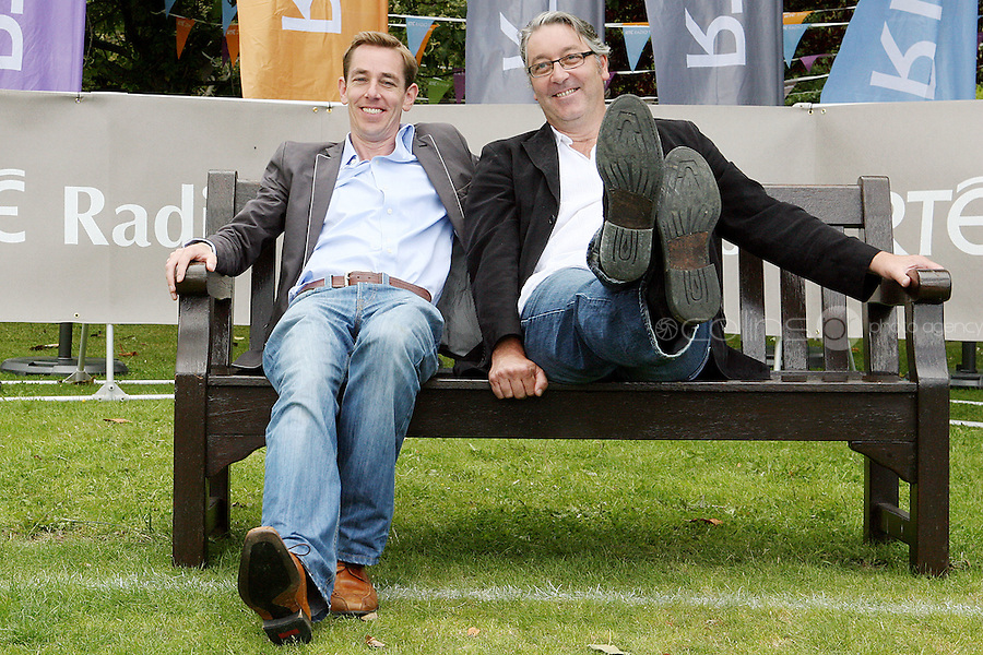 18/8/2010. RTE RADIO NEW SEASON LAUNCH. Radio presenters Colm Hayes and Ryan Tubridy  are pictured at the RTE Radio new Autumn season launch in Dublin. Picture James Horan/Collins Photos