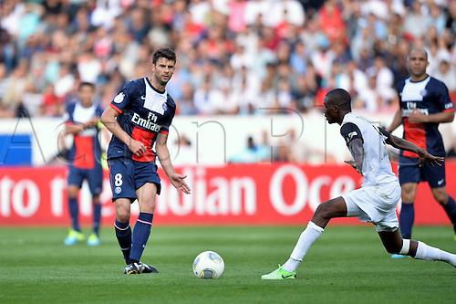 31.08.2013. Paris, France. French League football. Paris St Germain versus Guingamp Aug 31st.  Thiago Motta (psg)