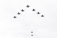 Tornado GR4<br /> RAF centenary fly-past at Buckingham Palace, The Mall, London England on July 10, 2018.<br /> CAP/PL<br /> &copy;Phil Loftus/Capital Pictures