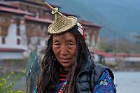 Tibetan Women at the Punakha Dzong (Fortress), Bhutan