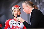 Tim Wellens (BEL) Lotto-Soudal at sign on before the start of the 83rd edition of La Fl&egrave;che Wallonne 2019, running 195km from Ans to Huy, Belgium. 24th April 2019<br /> Picture: ASO/Gautier Demouveaux | Cyclefile<br /> All photos usage must carry mandatory copyright credit (&copy; Cyclefile | ASO/Gautier Demouveaux)