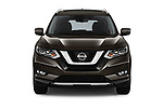 Car photography straight front view of a 2018 Nissan X-Trail Tekna 5 Door SUV Front View