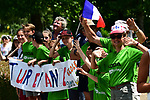 Fans await the race during Stage 4 of the 2018 Tour de France running 195km from La Baule to Sarzeau, France. 10th July 2018. <br /> Picture: ASO/Alex Broadway | Cyclefile<br /> All photos usage must carry mandatory copyright credit (&copy; Cyclefile | ASO/Alex Broadway)