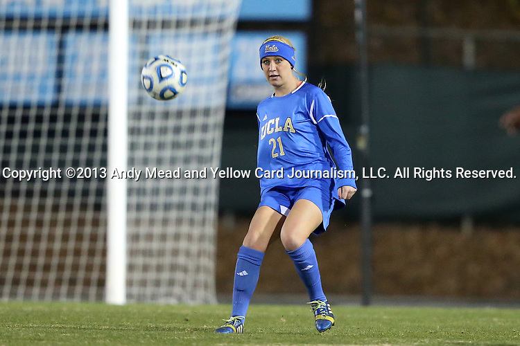 30 November 2013: UCLA's Megan Oyster. The University of North Carolina Tar Heels played the University of California Los Angeles Bruins at Fetzer Field in Chapel Hill, North Carolina in a 2013 NCAA Division I Women's Soccer Tournament Quarterfinal match. UCLA won the game 1-0 in two overtimes.