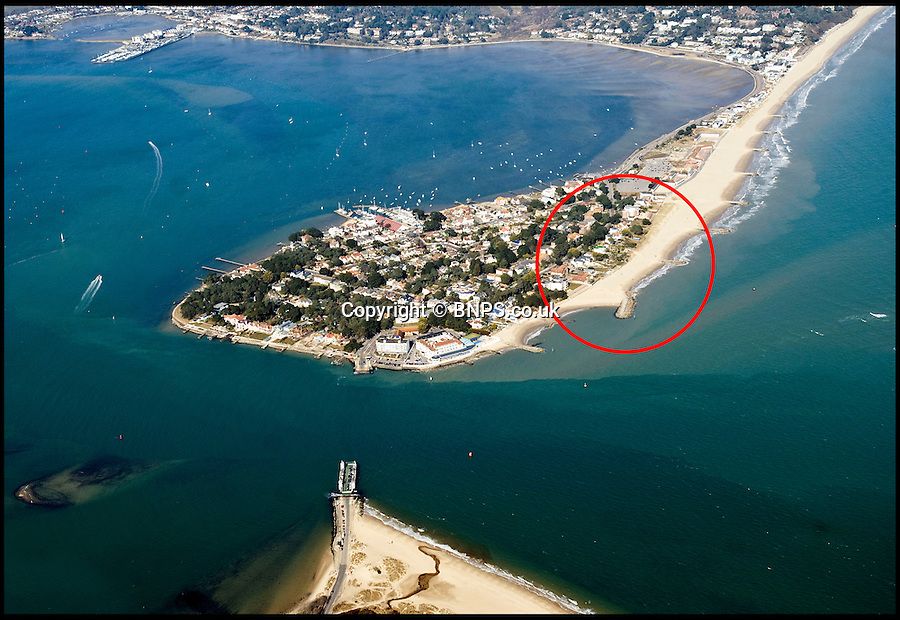 BNPS.co.uk (01202 558833)<br /> Pic: Peter Willows<br /> <br /> Sandbanks peninsula in Poole, Dorset showing the rough location of the house. <br /> <br /> A humble holiday home a family bought for just £1,000 almost a century ago on the exclusive enclave of Sandbanks has turned into a luxury property now worth £5 million.<br /> <br /> The bungalow was bought new by Dr Edward Andreae in the 1920s when the practice of building on the sandy Dorset peninsula was questioned because of perceived issues over stability.<br /> <br /> Over the last seven decades the bolthole has been passed down through the generations of the same family until it fell into a state if disrepair.<br /> <br /> In 2011 Dr Andreae's great-grandson, Tim Baldwin, and his father Jonathan, made the drastic decision to demolish the 90 year old building and erect a new one in its place.<br /> <br /> They spent 580,000 pounds creating a luxurious beach escape on the 'Millionaires' Row' in Poole Harbour.<br /> <br /> The plot is now home to a sprawling seven bedroom, five bathroom property which experts believe to be worth around five million pounds - 5,000 times it's original purchase price.