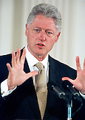 United States President Bill Clinton makes opening remarks at the &quot;White House Conference on Teenagers: Raising Responsible and Resourceful Youth&quot; in Washington, DC on 2 May, 2000.<br /> Credit: Ron Sachs / CNP