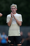 10 September 2016: Wake Forest's Sam Raben. The Wake Forest University Demon Deacons hosted the University of Virginia Cavaliers in a 2016 NCAA Division I Men's Soccer match. Wake Forest won the game 1-0 in sudden death overtime.