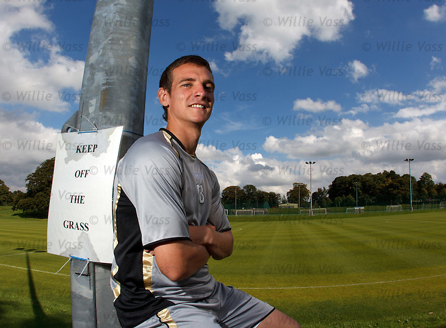 Craig Bryson relaxing after a double training session for Kilmarnock.**Thurs for Friday**