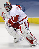 Brian Elliott - The University of Wisconsin Badgers defeated the Boston College Eagles 2-1 on Saturday, April 8, 2006, at the Bradley Center in Milwaukee, Wisconsin in the 2006 Frozen Four Final to take the national Title.
