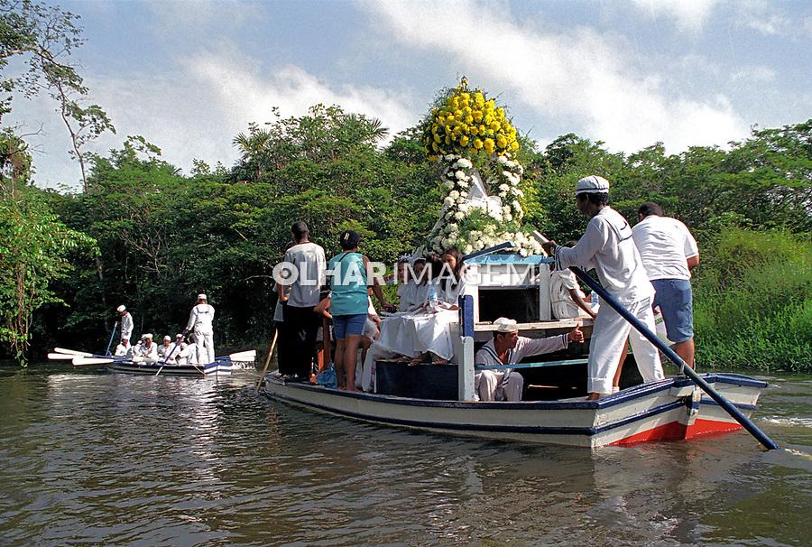 Festa do Cirio de Caraparu, Nossa Senhora da Conceiçao. Santa Izabel. Para.1998.  Foto de Miguel Chikaoka.