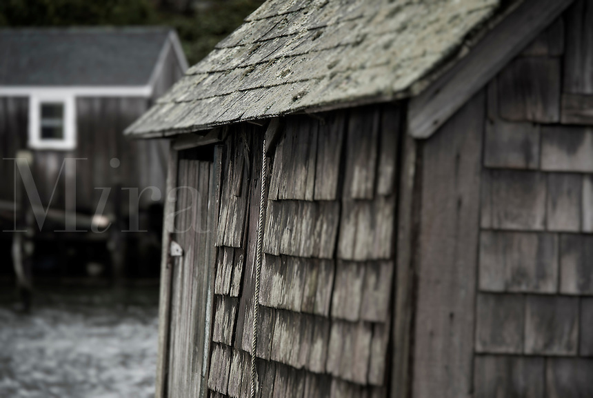 Rustic fishermans shack, Menemsha, Chilmark, Martha's Vineyard, Massachusetts, USA