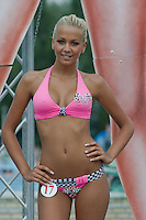 Szilvia Kalman attends the Miss Bikini Hungary beauty contest held in Budapest, Hungary on August 06, 2011. ATTILA VOLGYI
