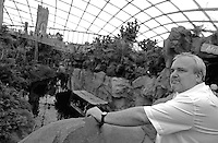 Opening of the the new words biggest tropical hall in Leipzig. Zoo-Director Joerg Junhold opened the hall called Gondwanaland this morning first time for visitors. in the picture: director of the zoo Leipzig Dr. Jörg (joerg) Junhold proudly looking around in his new attraction of the zoo. Foto: Alexander Bley