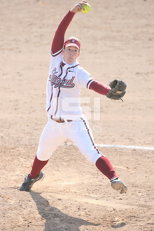 17 February 2008: Stanford Cardinal Missy Penna during Stanford's 2-0 win against the Wichita State Shockers in the Stanford Invitational I at the Boyd and Jill Smith Family Stadium in Stanford, CA.