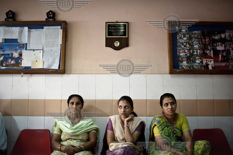 Patients and surrogate mothers wait for a doctor's appointment at the Akanksha Infertility and IVF Clinic. The centre has become the most popular clinic in India for outsourcing pregnancies for western couples.