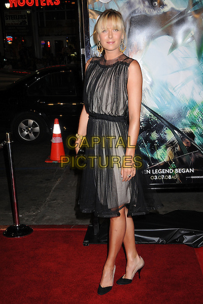 "MARIA SHARAPOVA.""10,000 B.C."" Los Angeles Premiere at Grauman's Chinese Theatre, Hollywood, California, USA..March 5th, 2008.full length black sheer grey gray dress .CAP/ADM/BP.©Byron Purvis/AdMedia/Capital Pictures."