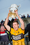 Emmets captain Ger McCarthy lifts cup after Listowel Emmets wins the  North Kerry Senior Championship final replay at  Bob Stack Park, Ballybunion on Saturday against  Brosna