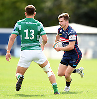 Ruaridh Dawson of Doncaster Knights in possession. Pre-season friendly match, between Doncaster Knights and Newcastle Falcons on August 25, 2018 at Castle Park in Doncaster, England. Photo by: Patrick Khachfe / Onside Images