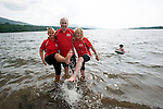 "25-7-2014: Angela Collins, Dr Pat Forde and  Anne O'Sullivan cool down in the Atlantic Ocean during the 3 day Kerry Way Walk for Cancer Research at Kenmare Pier on Friday on day 1 of the three day event which will take walkers through some of the most scenic parts of South Kerry.<br /> Picture by Don MacMonagle<br /> <br /> repro free photo<br /> <br /> press release:<br /> 9th Kerry Way Cancer Research Gets Under Way <br /> Organisers hope to raise €50k for cancer research projects Hundreds of walkers have descended on the Kingdom for the 9th annual Kerry Way Cancer Research walk in aid of Breakthrough Cancer Research who fund cancer research programmes administered by Cork Cancer Research Centre. <br /> <br /> The Kerry Way Cancer Research walk is a guided 70km walk over three days combining impressive mountain views, dramatic peaks and glens, wild moorlands, wooded paths and lakes along the Kerry Way trails.  Challenging but fun, the great camaraderie on the route adds to the spectacular settings and ensures a truly memorable experience in the Kingdom.  <br /> Kerry footballing legend and Breakthrough Cancer Research ambassador, Pat Spillane was on hand to wave the walkers off on their trek.  The walks over the three days include some of Irelands most fabulous walk ways Lauragh to Kenmare incorporating part of The Beara Way, Lough Inchiquin the Torc Waterfall and Esknamucky Glen, this year's walk features the added element of a twilight boat trip on Friday evening across the beautiful Kenmare Bay, landing at Templenoe to start the walk to Kenmare.  <br /> <br /> Speaking at the starting point Orla Dolan, Breakthrough Cancer Research Fundraising Manager said ""The Kerry Way Cancer Research Walk has gone from strength to strength raising over €650,000 for cancer research in the past nine years. Today's walk turnout is testament to the popularity of the walk and also all the lives cancer effects, people want to play their part in the fight against cancer and we are delighted to have them here with us this weekend. We couldn't"