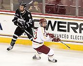 Matt Bergland (PC - 17), Johnny Gaudreau (BC - 13) - The Boston College Eagles defeated the Providence College Friars 7-0 on Saturday, February 25, 2012, at Kelley Rink at Conte Forum in Chestnut Hill, Massachusetts.