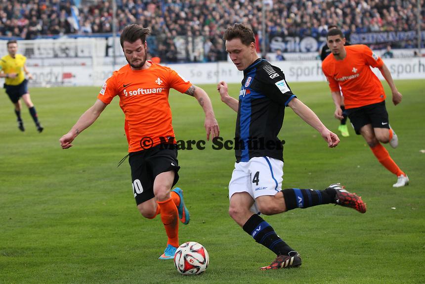 Alexander Bittroff (FSV) gegen Marcel Heller (SV98) - FSV Frankfurt vs. SV Darmstadt 98, Frankfurter Volksbank Stadion